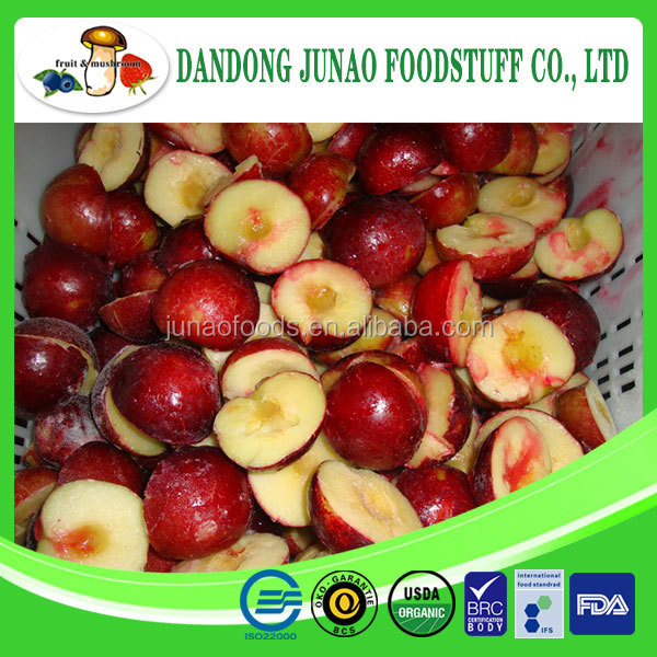 fresh frozen IQF Grade A Bulk Packaging iqf plum