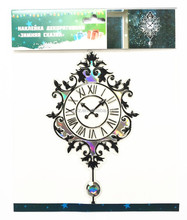 PVC raised sticker decorative wall clock decal