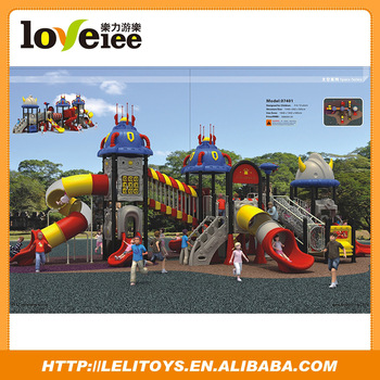 Commercial large plastic toys, outside playground equipment, amusement park slide for sale