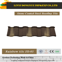 Spanish style villa roofing shingles Color Steel Material Synthetic Resin Roof Tile