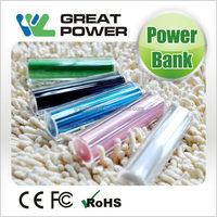 Durable useful lipstick power banks for cellphone