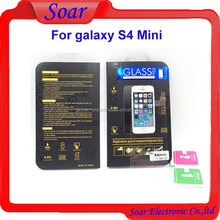 8-9 hardness 0.3mm 2.5D round edge tempered glass screen protector for Samsung galaxy S4 Mini