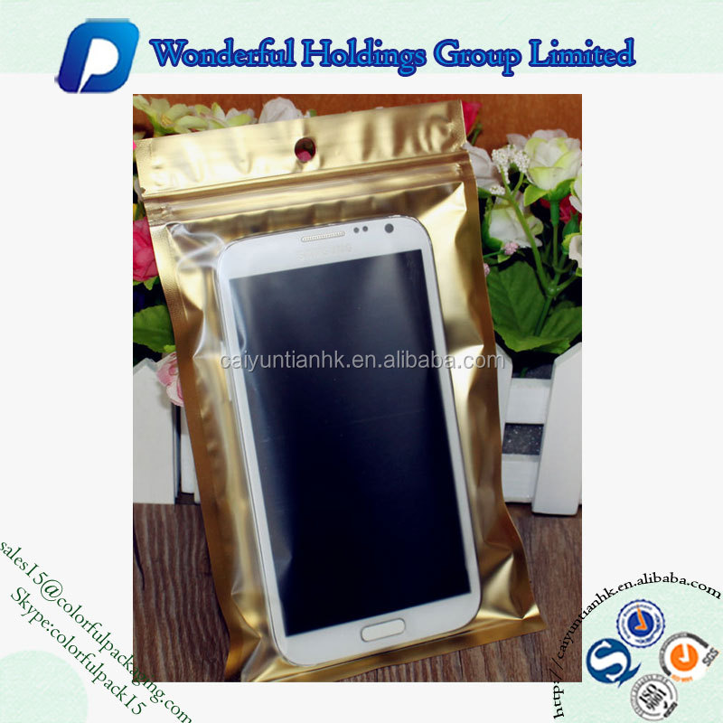 cell phone accessories packaging bag resealable plastic pouch iphone 6 case packaging bag