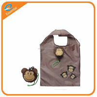 Polyester animal monkey pig shaped foldable bag