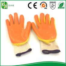 factory high quality wholesale customized cotton lined rubber latex work glove