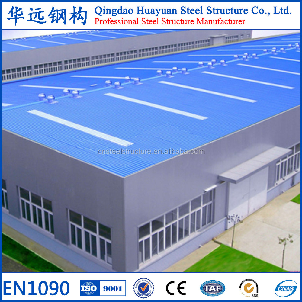 Chinese prefabricated light structural steel construction warehouse with CE ISO Certificates