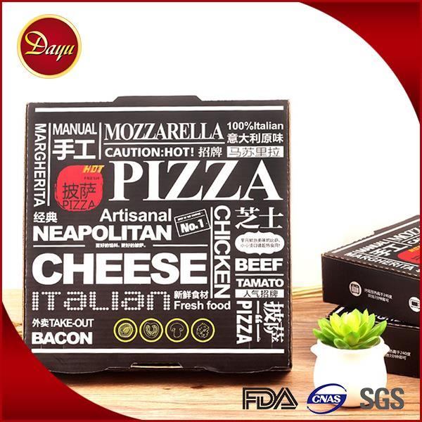 Different size recycle cartoon pizza box custom