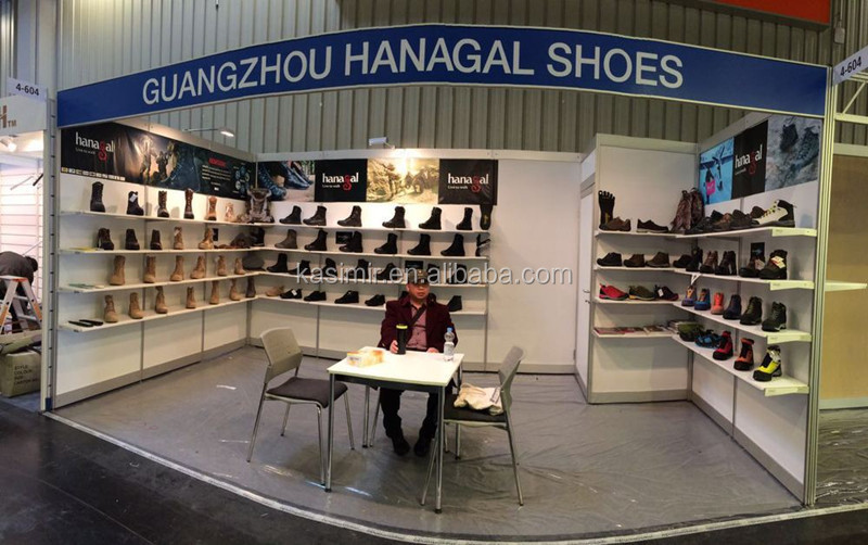 Guangzhou factory wholesale safety shoes Italy black steel safety boots police safety shoes