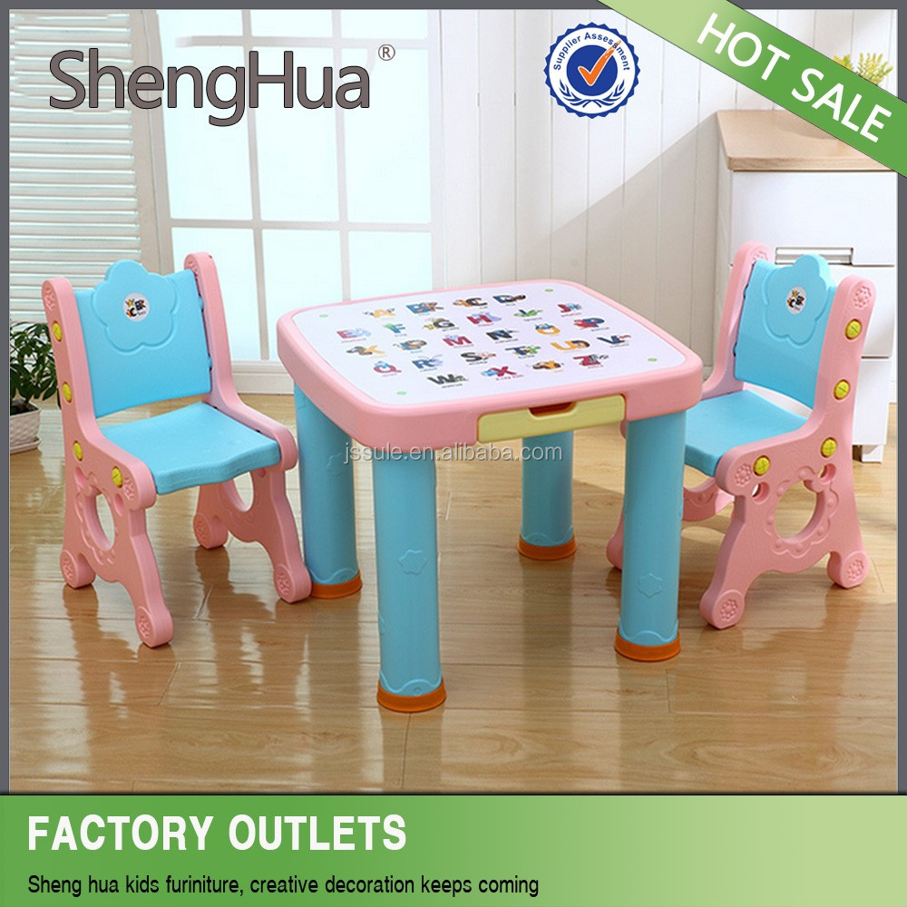 Safety and environmental Hot Sale factory price kids plastic study table and chair SL-20176
