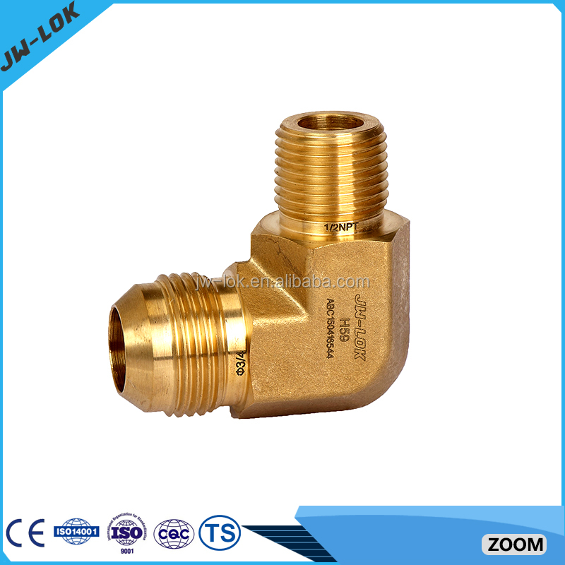 Brass compression degree flared tube fittings buy