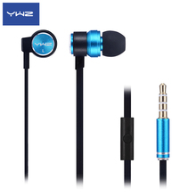 Metal Stereo Headphones in Ear, Wired Earphones with Mic,Mobile Phone Anti Noise Earbud