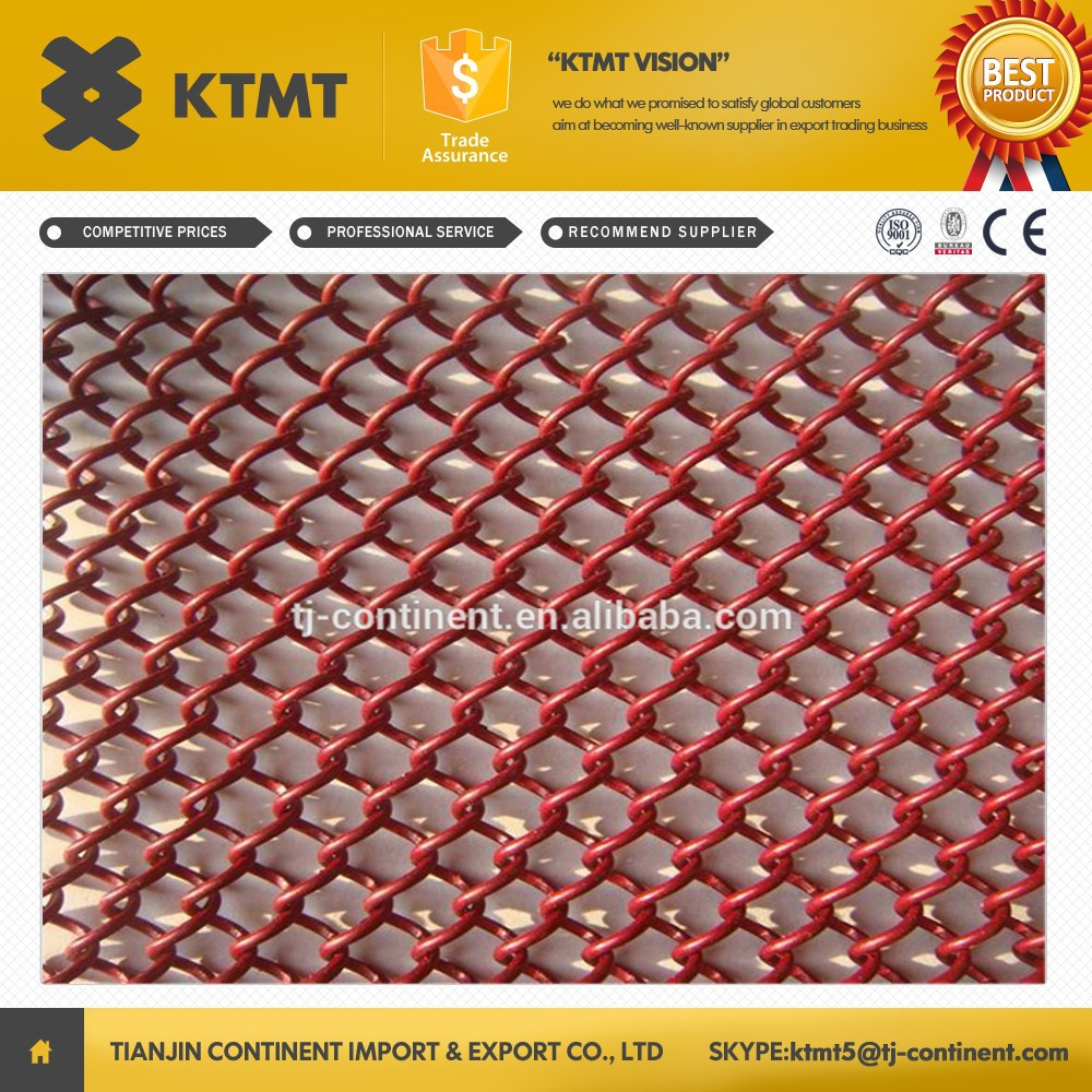 High Quality Decorative Metal Fireplace Wire Mesh Coil Curtain For Interior Hanging Room Curtain Divider