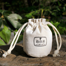 Round Bottom Cotton Canvas Drawstring Pouch