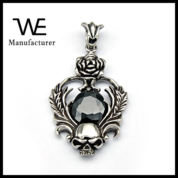 Free Sample Stainless Steel Main Material Men's Skull ZC Unique Pendant Jewelry Male