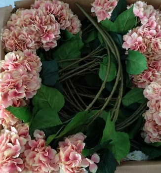Hot Selling Real Touch Silk Hydrangea Artificial Flowers For Sale