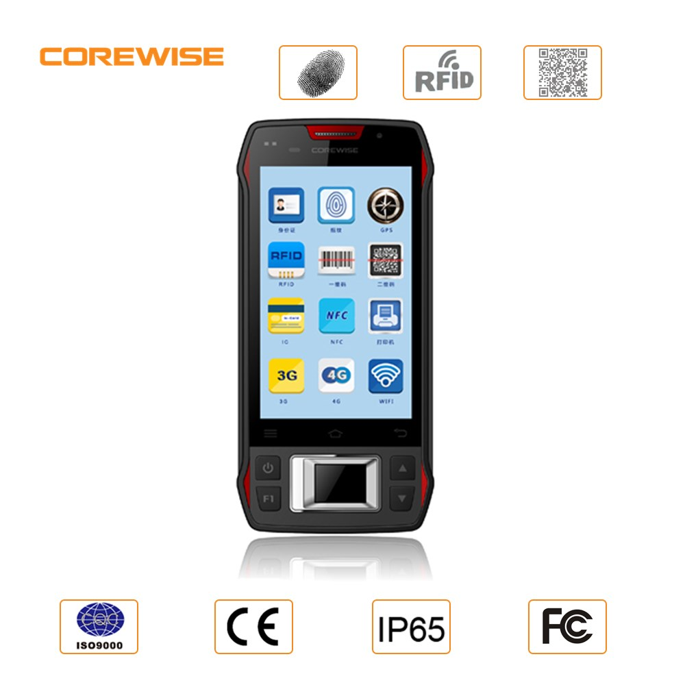 Handheld portable 4G LTE wifi android smart mobile data terminal with nfc,rfid,barcode scanner