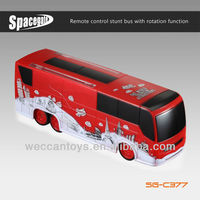 SG-C377 Hot Selling! Remote control music rc bus with led lights and rotation function