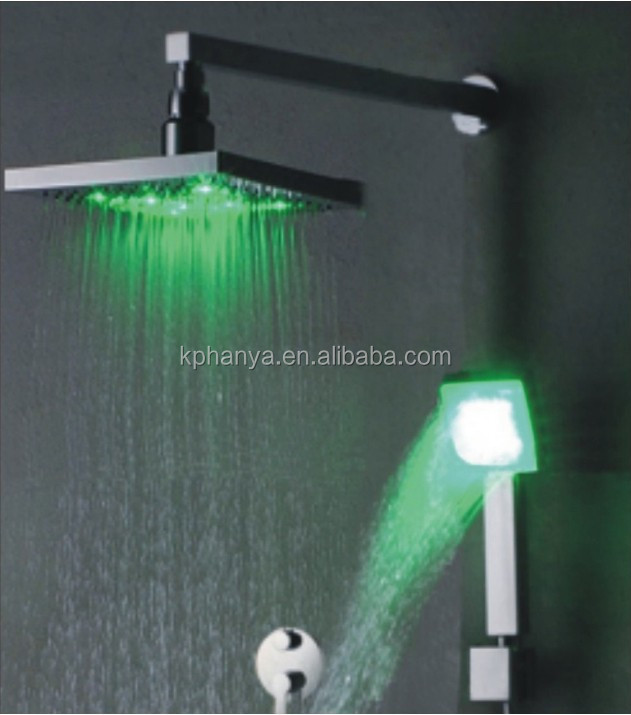 In-wall LED faucet
