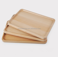 Rectangular low price solid material cheap wooden food serving tray