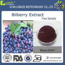 High content super fruit bilberry extract powder with anthocyanidins 35% HPLC