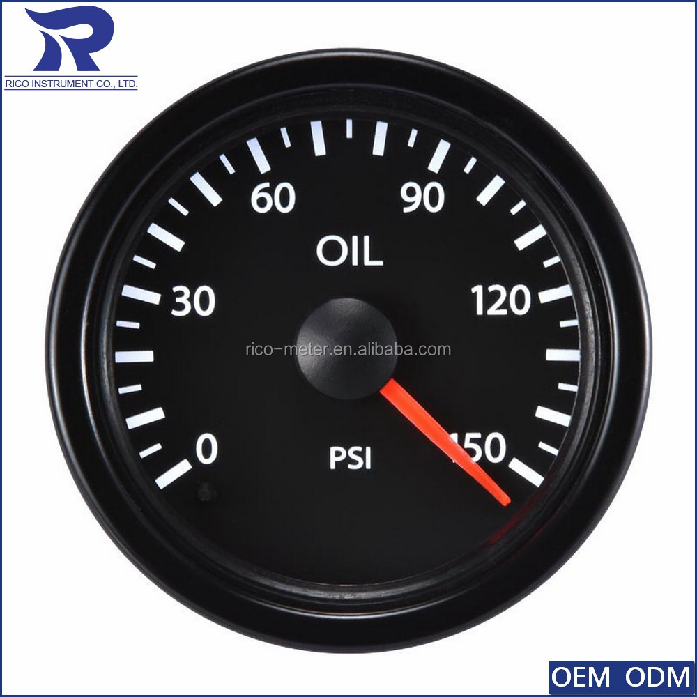 New Car Vehicle Motorcycle 52mm Fuel Pressure Gauge trike