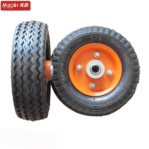 6 inch high quality pneumatic rubber wheel for caster
