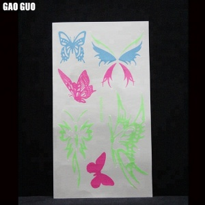 Wholesale Custom Cosmetic Grade Waterproof Glow In The Dark Temporary Tattoo Sticker Factory In China