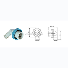 High quality long duration time three-phase plug industrial