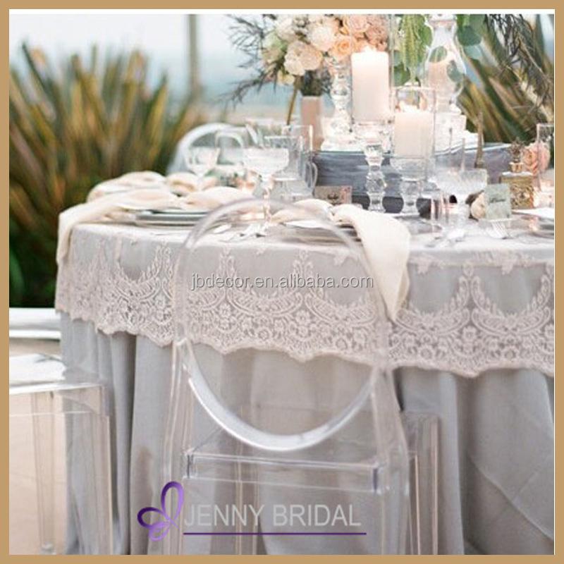 Tcap05a Elegant White Lace Table Overlays Fancy Wedding