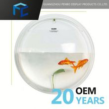 2015 New Style Exceptional Quality Customized Logo Small Plastic Fish Bowls