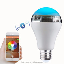 Wireless smar light bulb bluetooth speaker with color changing LED light, CE,RoHs, FCC certificate