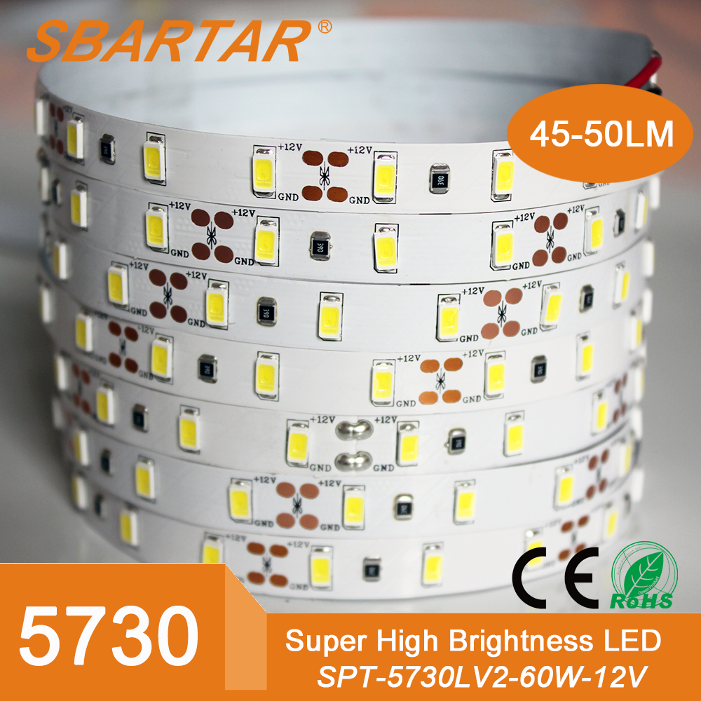 shenzhen led factory 5730 12v rechargeable battery led strip for trails decoration