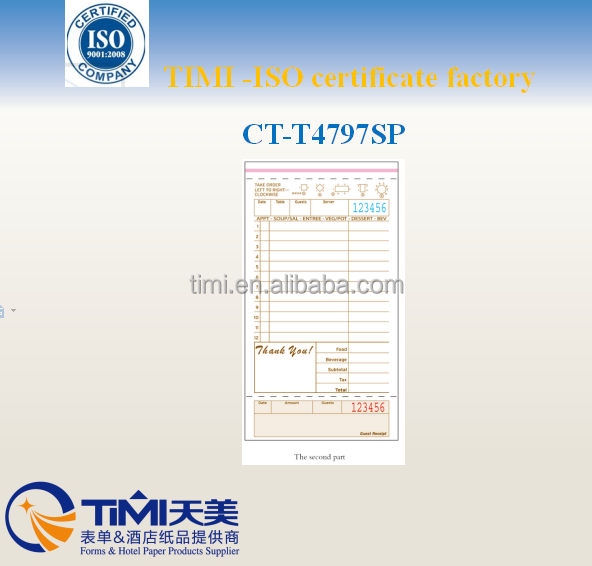 CT-T4797SP carbonLESS Recording Paper forms
