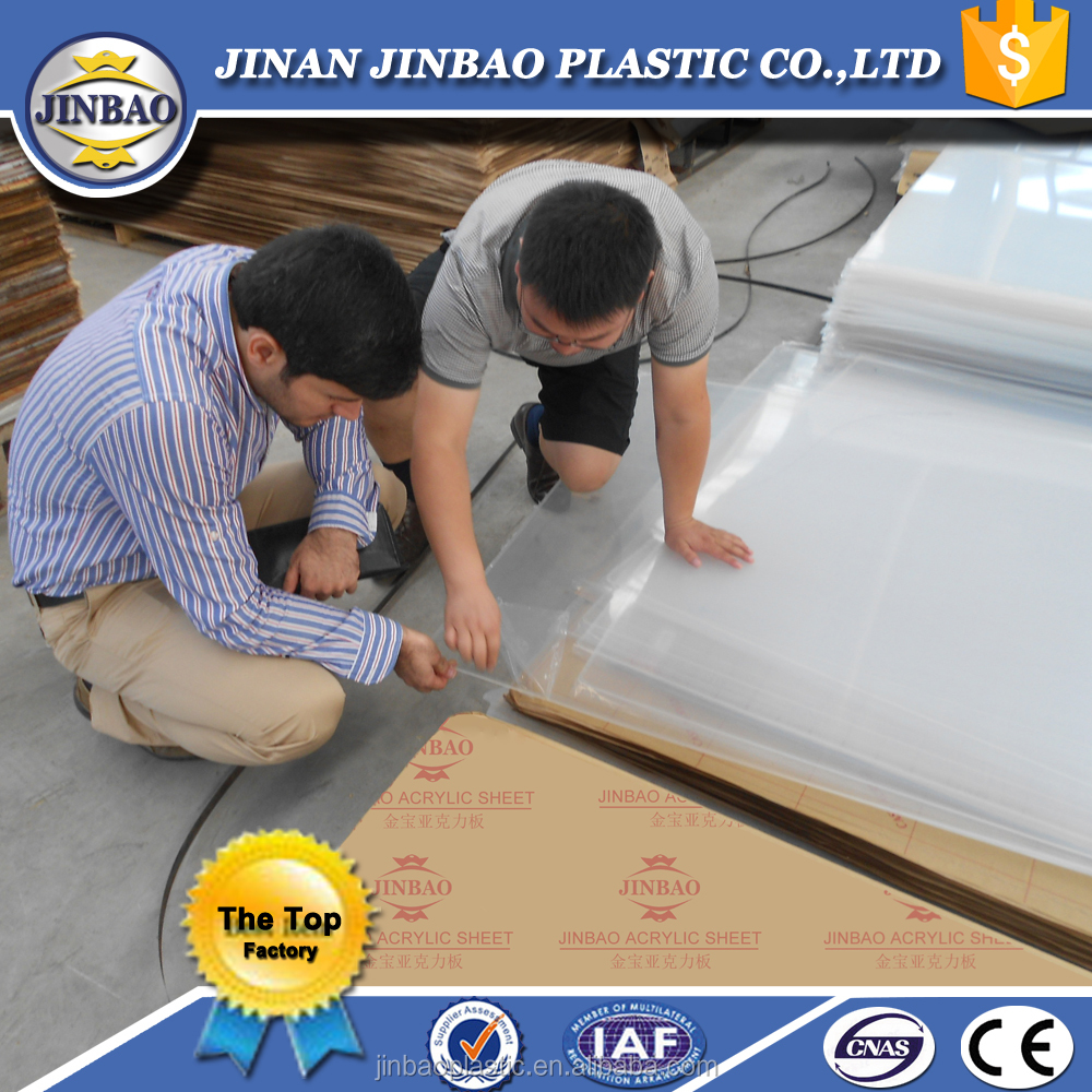 jinbao unbreakable advertising material 3mm acryl panel plexi pmma