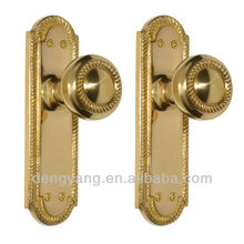 Twisted Rope Door Knob & Plate Set