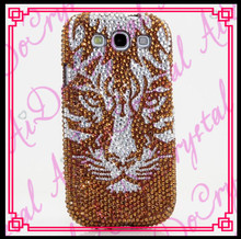 Aidocrystal DIY design your own cell phone case for galaxy j3 gold bling phone case with tiger head pattern
