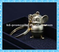 2015 New Style 3D Meta Keychain Lovely Gift Keyring Animal Mouse Key chain