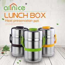 Sealed stainless steel thermal food carrier hot pot/Protable tiffin lunch box