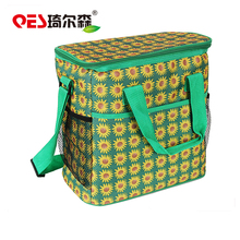 HOT sale eco-friendly foldable zipper stylish customized logo deluxe lunch cooler bag