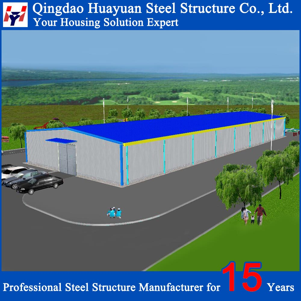 Large Span Structural Steel Prefab Factory Building