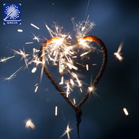 wedding cold sparkler heart shaped fireworks