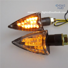 CH-1006-1 Chenghao 12v motorcycle black housing led turn signal lights for racing motorbike