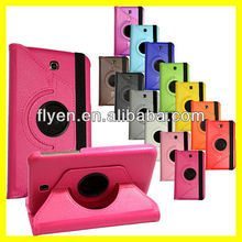 360 Rotating PU Leather Case Cover For Samsung Galaxy Tab 3 7.0 P3200 P3210 T210 Leather Cases Covers New Hot PINK