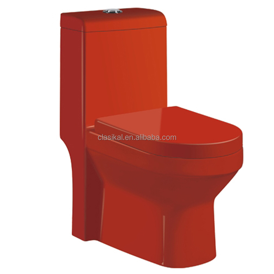 Sanitary ware ceramic siphonic one piece cheap price reliable quality red toilet