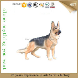 resin german shepherd dog life size dog statues for sale