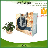 custom full colors PET RPET shopping tote green recycling shopping bag