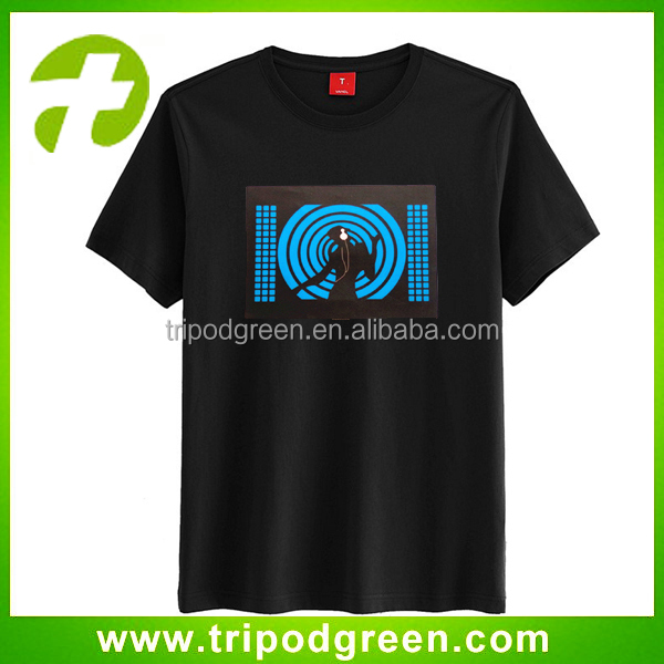 El led panel sound activated T Shirts