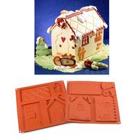 Create the must beautiful Gingerbread House Silicone Mold