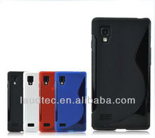 For LG Optimus L9 P760 S Line Wave TPU gel case cover NEW PRODUCT!!!!!!
