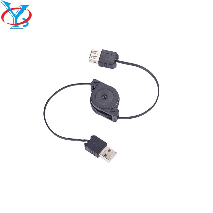 QY-D07 USB AM to AF Computer Cable Adapter Retractable